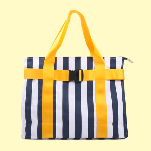 [DUCKDIVE] +82 T.D&M.G BAG_NAVY WHITE STRIPE