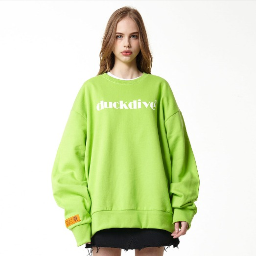 EMOTION LOGO_CREWNECK_YELLOW GREEN