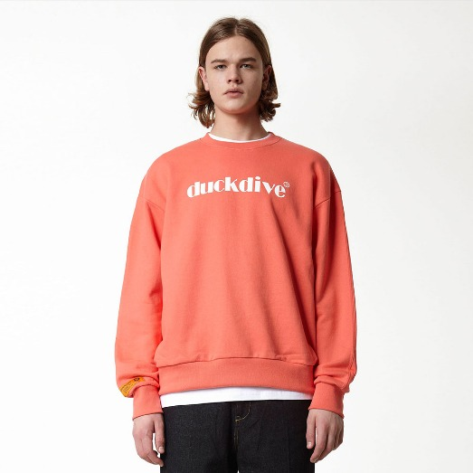 EMOTION LOGO_CREWNECK_CORAL
