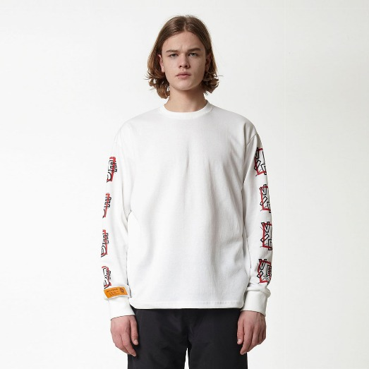SQUARE A LONG SLEEVE WHITE