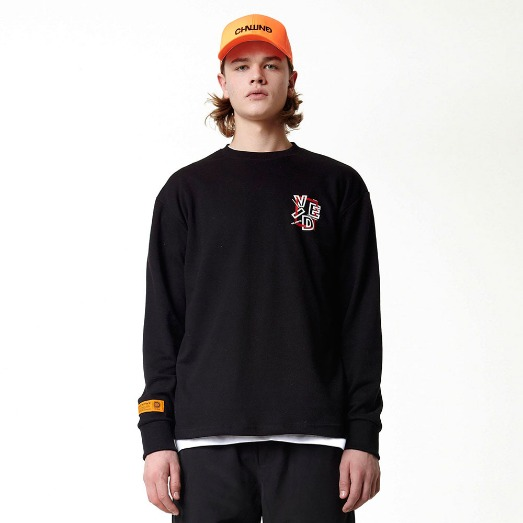 SQUARE F&B LONG SLEEVE BLACK