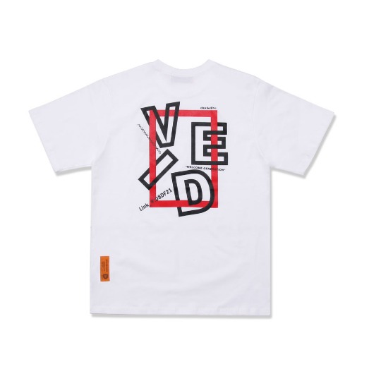 SQUARE F&B  TEE  WHITE