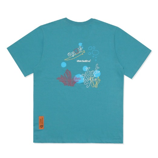 UNDER WATER TEE DEEP SKYBLUE