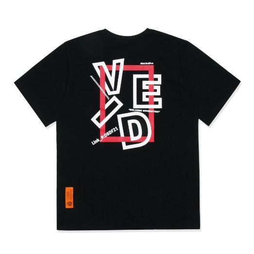 SQUARE F&B  TEE  BLACK