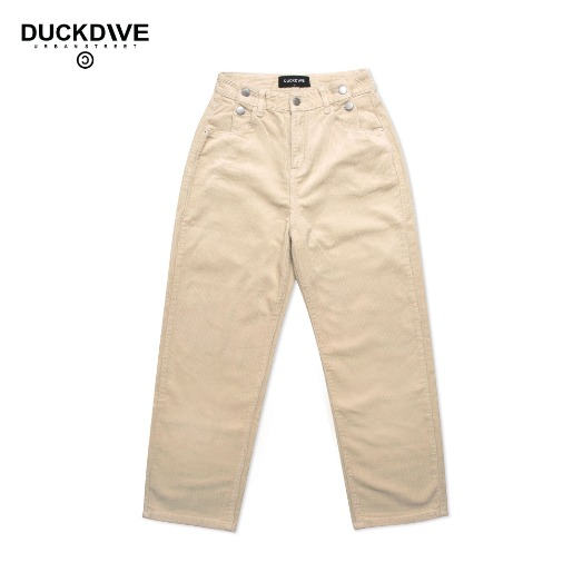 STRAIGHT CORDUROY PANTS BEIGE
