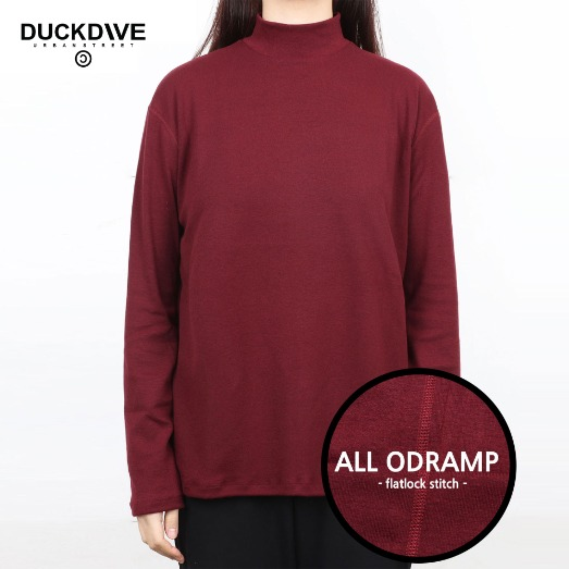 PREMIUM BASIC HALF NECK  BURGUNDY