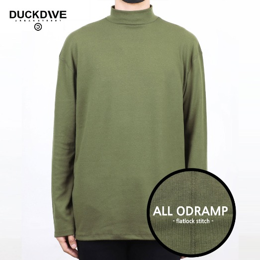 PREMIUM BASIC HALF NECK  OLIVEGREEN