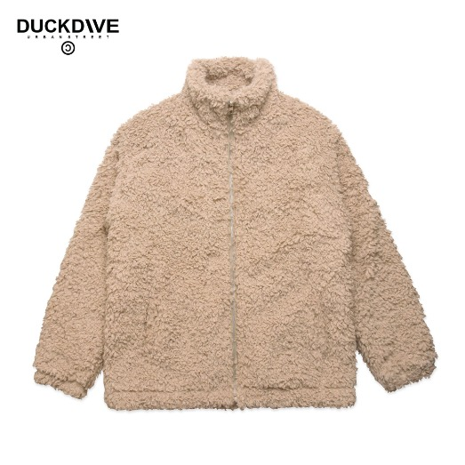 SOFT TOUCH FLEECE ZIP-UP JACKET BEIGE