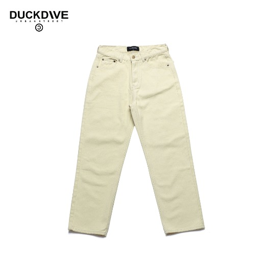 STRAIGHT COTTON PANTS IVORY