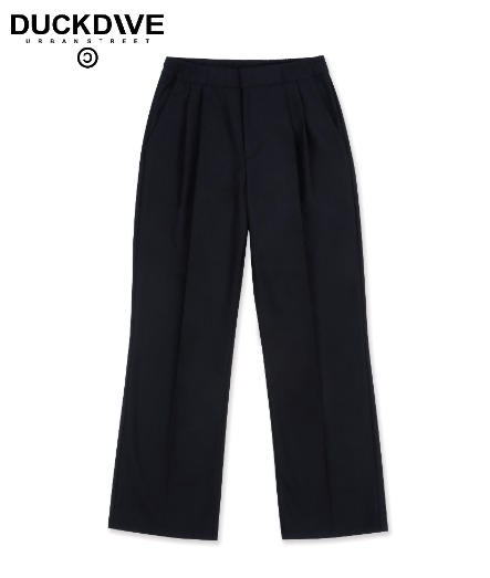 WIDE BOOTS CUT SLACKS-SS BLACK