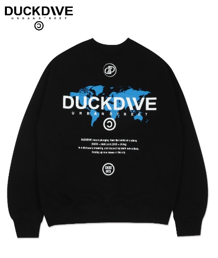 WORLD WIDE CREWNECK BLACK