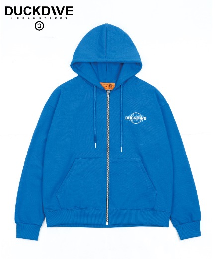 WORLD WIDE HOOD ZIP-UP CLASSIC BLUE