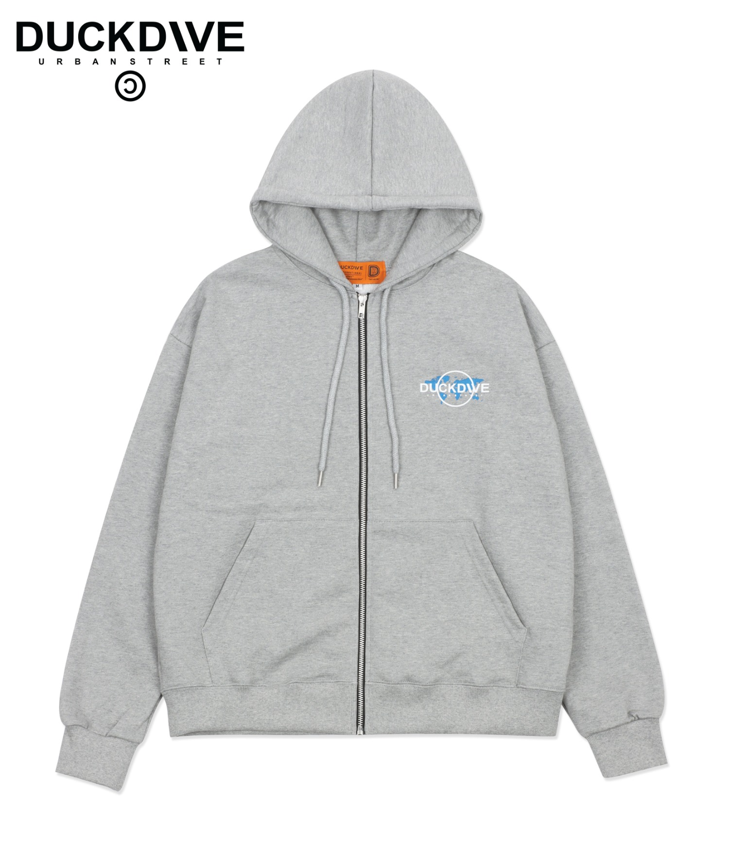 WORLD WIDE HOOD ZIP-UP GRAY