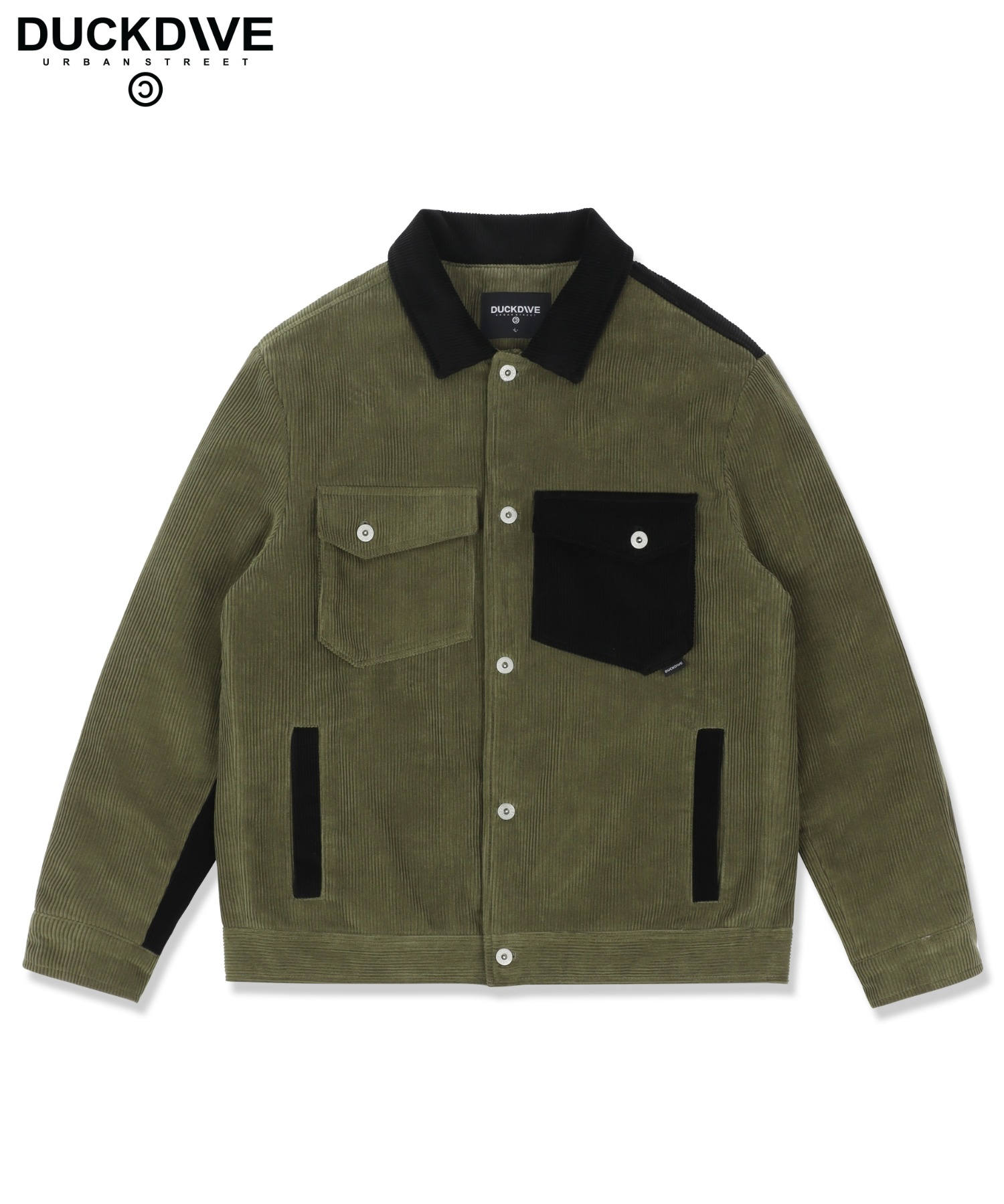 2oz QT STD CORDUROY TK JACKET MIX KHAKI